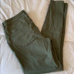 Olive Mid-rise SkinnyJean, tall